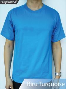 Kaos-Polos-Biru-Turquoise