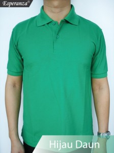 Polo-Shirt-Hijau-Daun