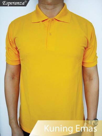 Polo Shirt Kuning Emas Kaos Polos Murah Di Palembang
